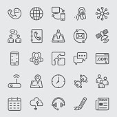 Contact and Communication line icon