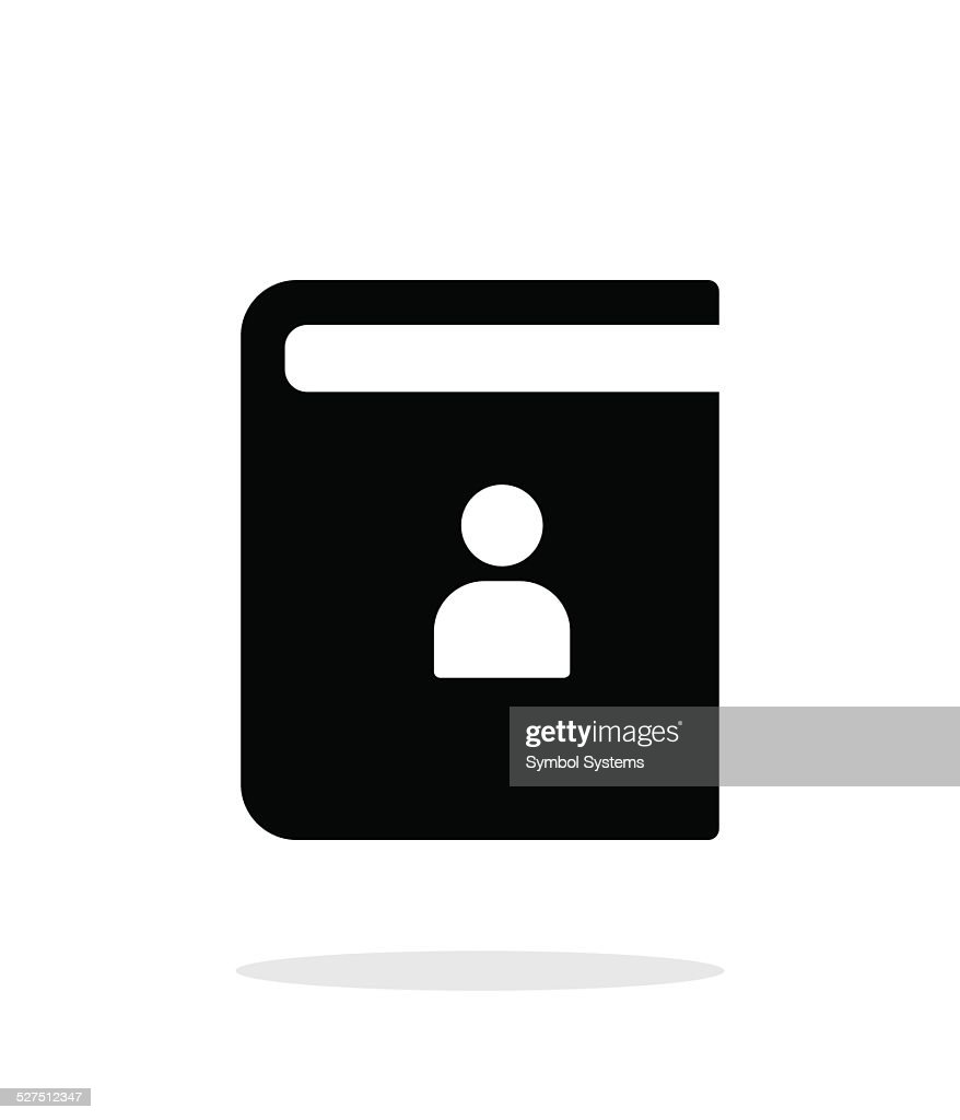 Contact book simple icon on white background.