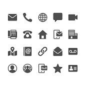 Contact glyph icons