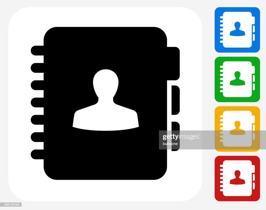 Contact Icon Flat Graphic Design