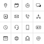 Contact Icons — Inky Series