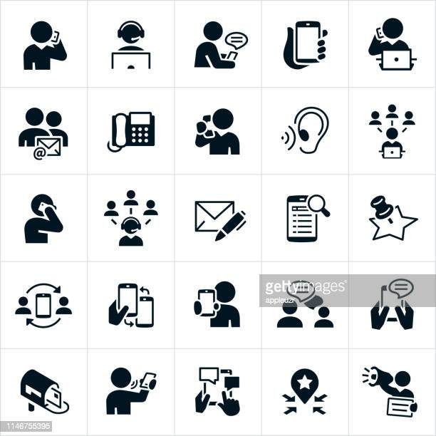 contact icons - customer service representative stock illustrations