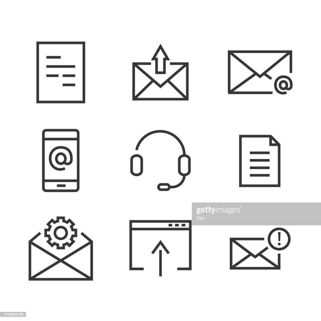 9 Contact line icon