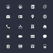 Contact simple icons