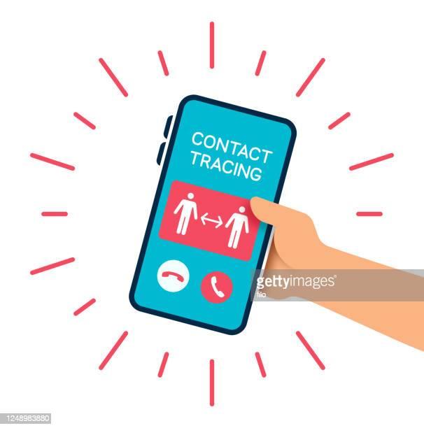 連絡先トレース電話 - 追跡点のイラスト素材/クリップアート素材/マンガ素材/アイコン素材