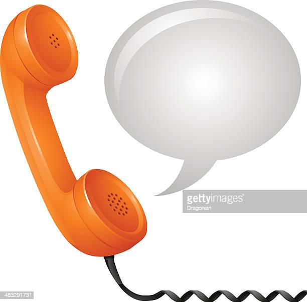 contact us concept - telephone receiver stock illustrations