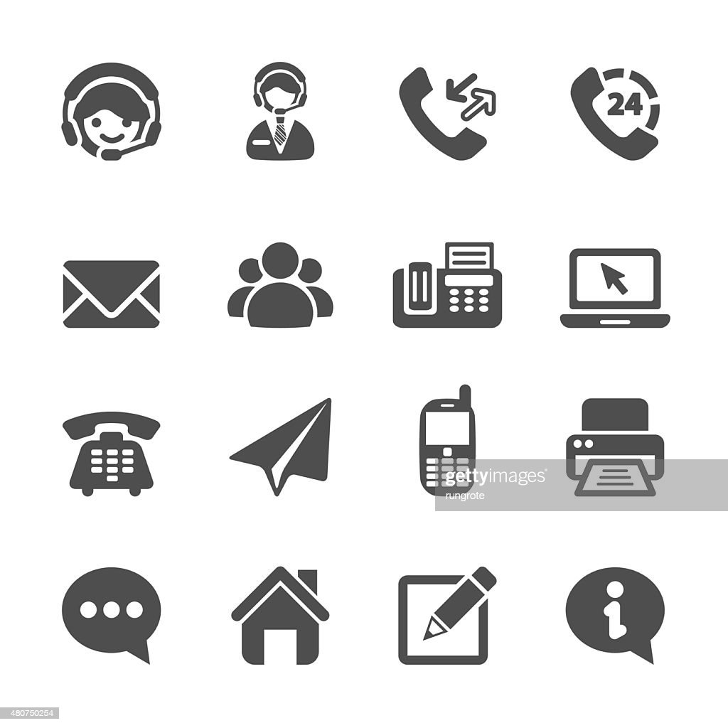 contact us icon set, vector eps10