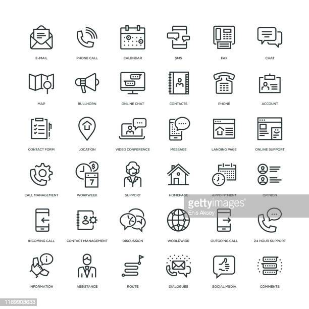 お問い合わせアイコンセット - ホームページ点のイラスト素材/クリップアート素材/マンガ素材/アイコン素材