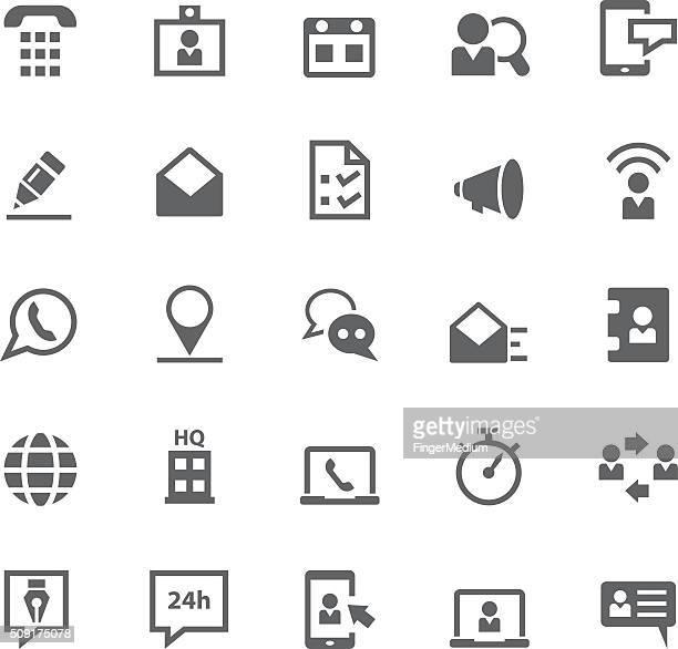 illustrations, cliparts, dessins animés et icônes de contactez-nous ensemble de icône - conseil