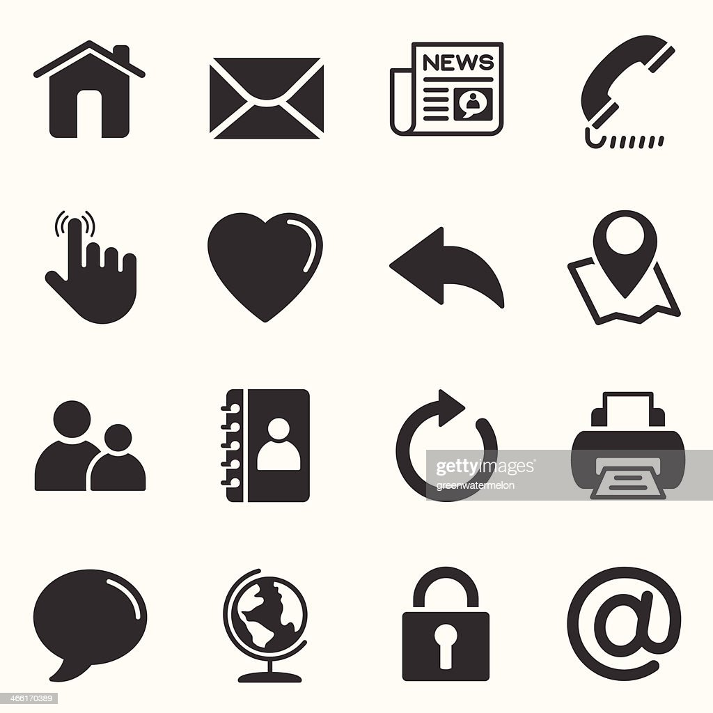 Contact us Icons Set  | Background