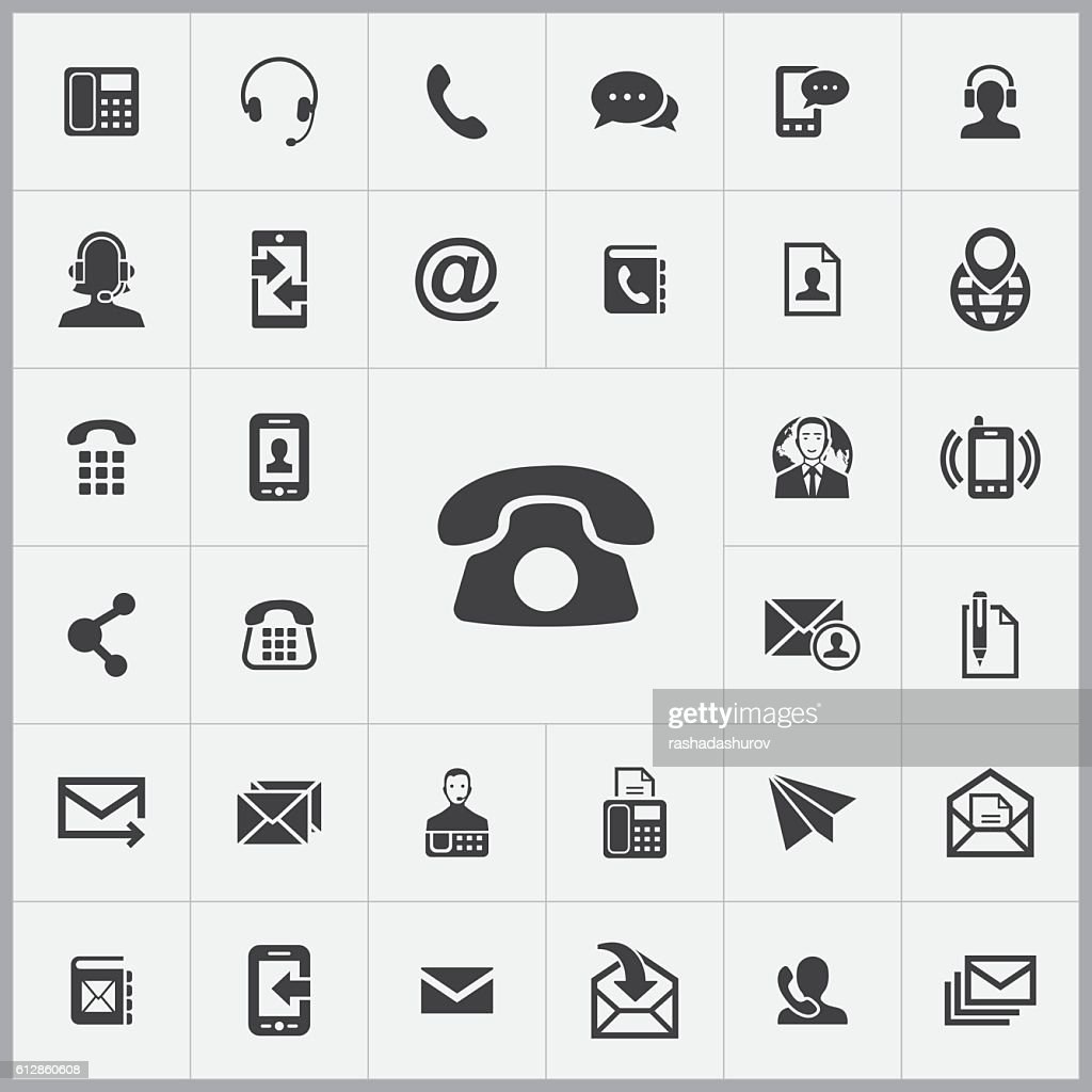 contact us icons universal set