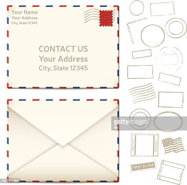 contact us mail letters - post office stock illustrations, clip art, cartoons, & icons