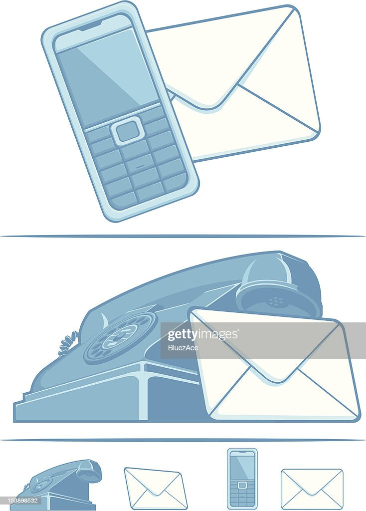 Contact Us Symbol Phone Mail Vector Art Getty Images