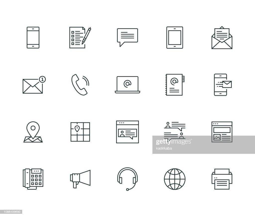 Contattaci serie Thin Line : Illustrazione stock