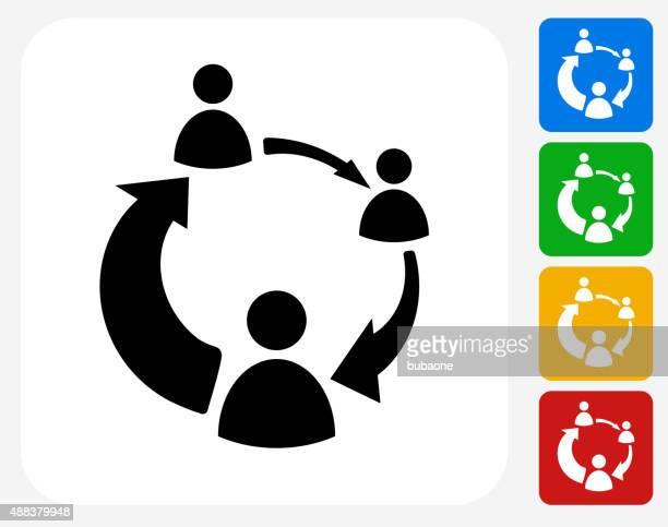 wenden sie sich an den internet-symbol flache grafik design - internet konferenz stock-grafiken, -clipart, -cartoons und -symbole