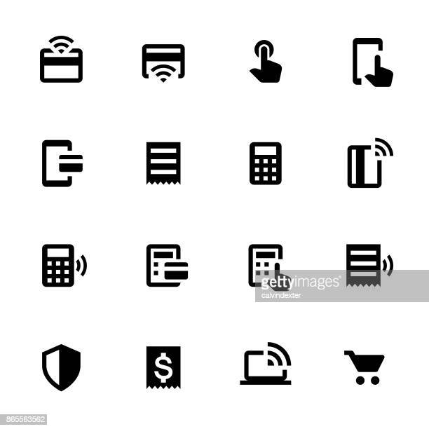 contactless payment icon set 2 - out of business stock illustrations, clip art, cartoons, & icons