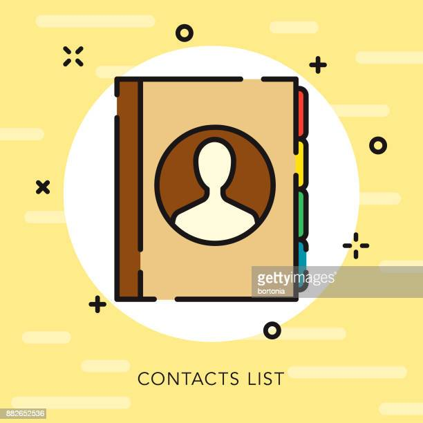 Contacts List Open Outline Communication Icon