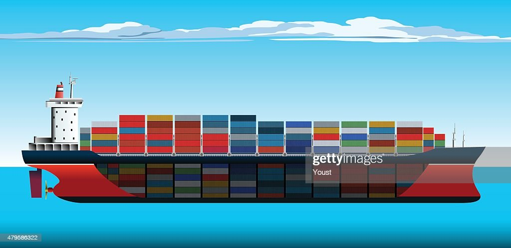 container ship section vector art getty images
