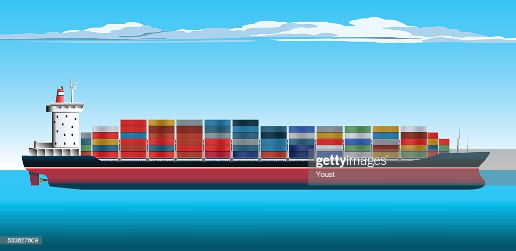 60 Top Container Ship Stock Illustrations, Clip art