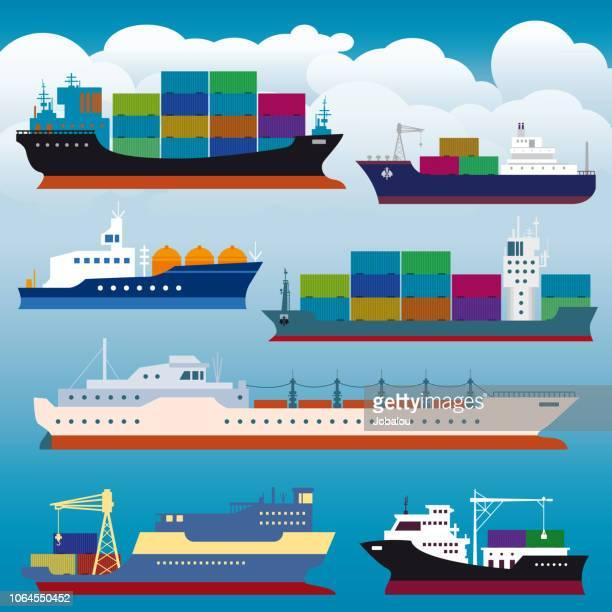 コンテナー船貨物輸送
