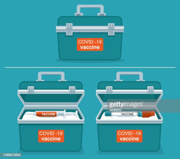 container - vaccine - viral shedding stock illustrations