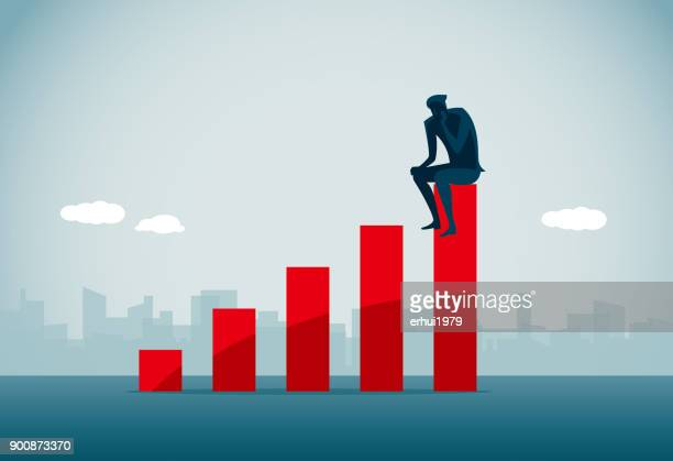 contemplation - unemployment stock illustrations
