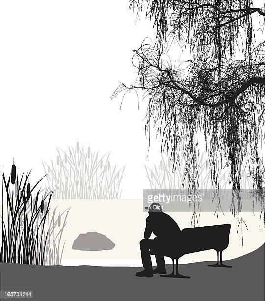 Contemplation Vector Silhouette