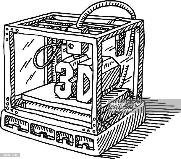 Contemporary 3D Printer Drawing