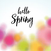 Contemporary Abstract Spring Background