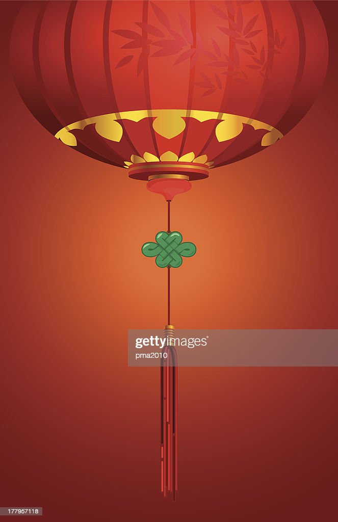 Contemporary Chinese lantern background design