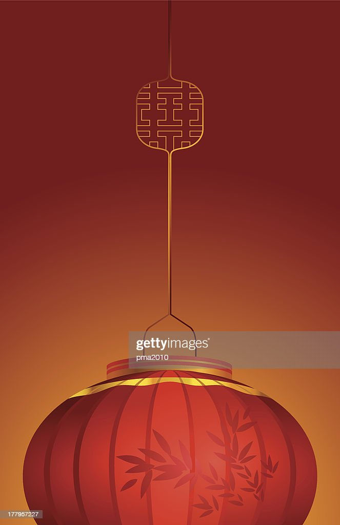 Contemporary Chinese Lantern Background Design Vector Art