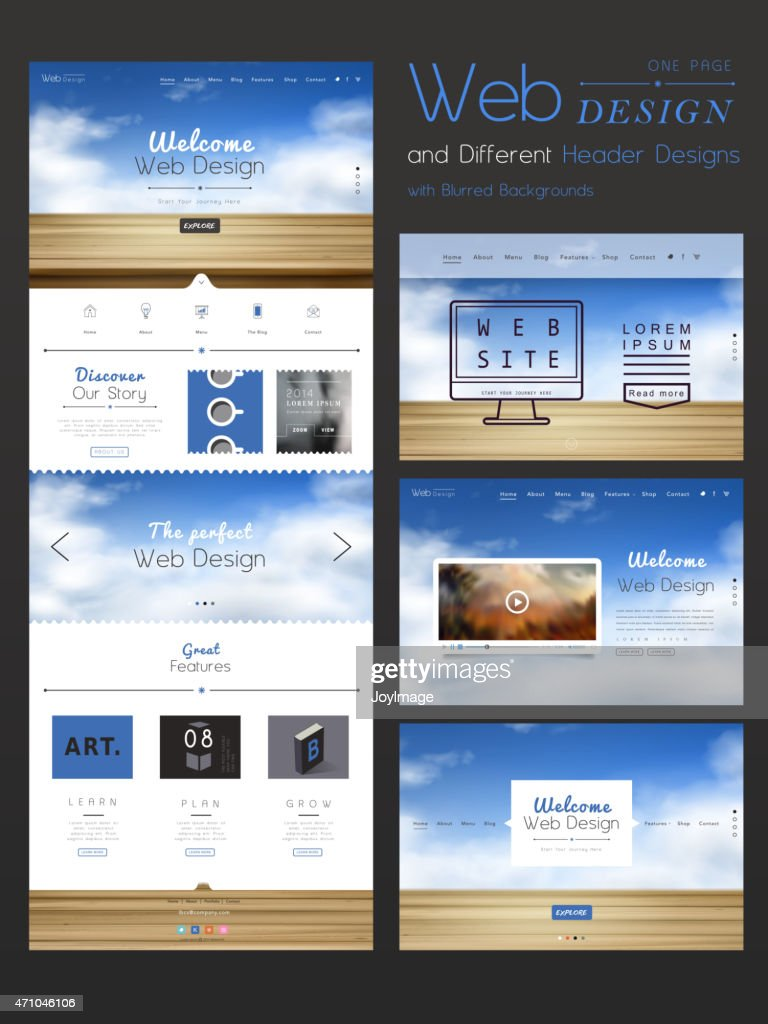 contemporary one page website design template
