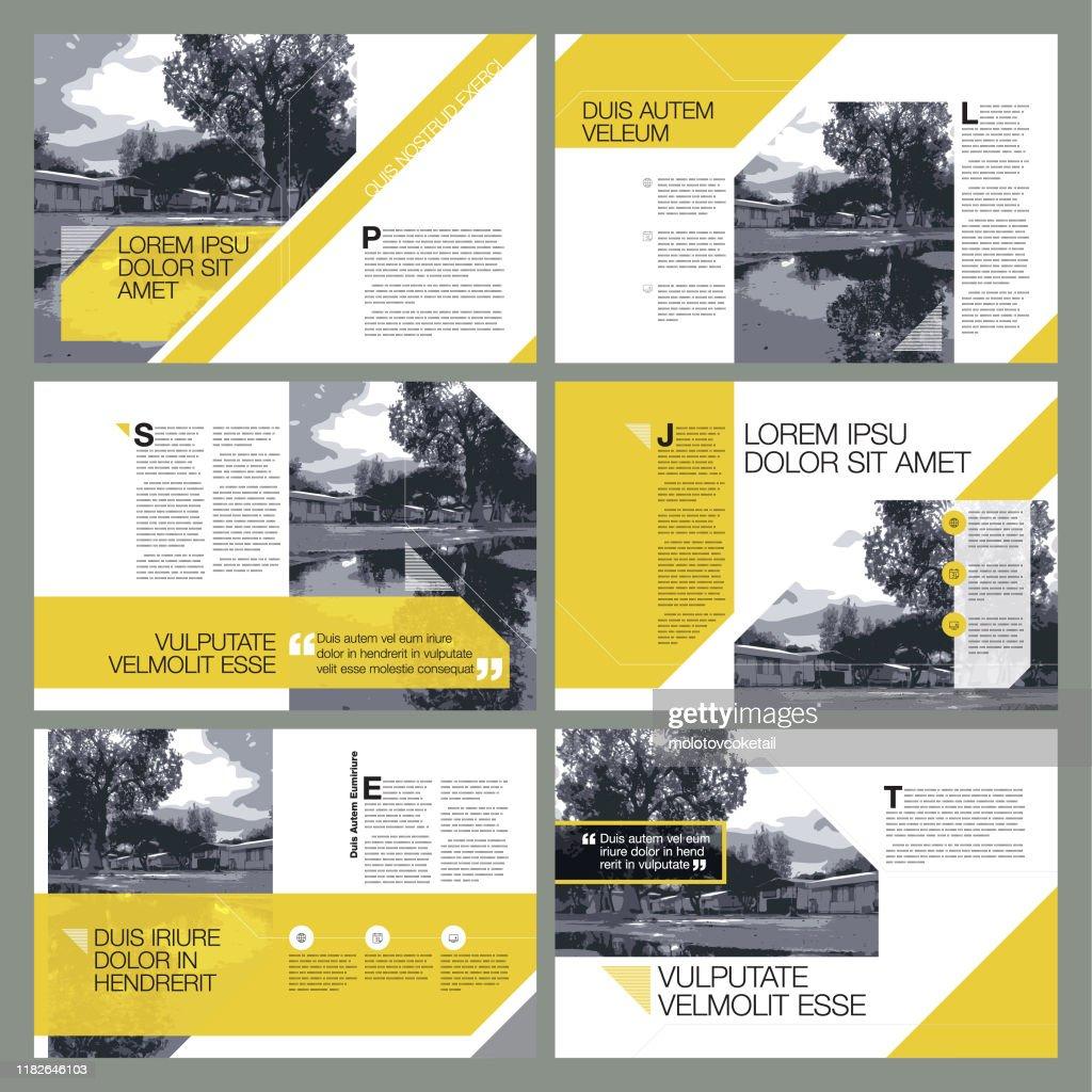 zeitgenössische Seitenlayout-Designs : Stock-Illustration