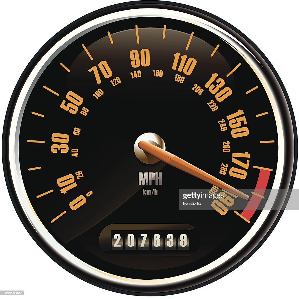 Contemporary speedometer : stock illustration