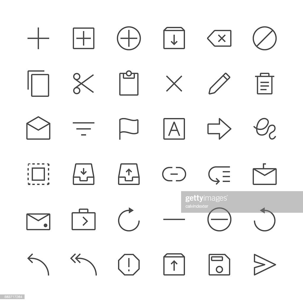 Content icons set 1 | Thin Line series