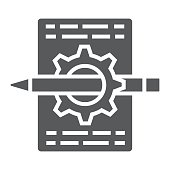 Content management glyph icon, development and business, seo sign vector graphics, a solid pattern on a white background, eps 10.