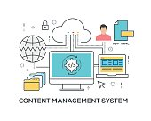 Content Management System Concept with icons