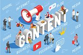 Content Marketing Business Concept Vector