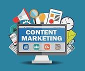 content marketing concept. Flat design illustration.
