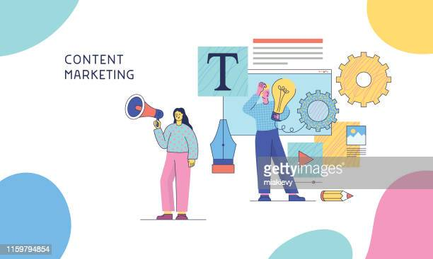 content marketing - content stock illustrations