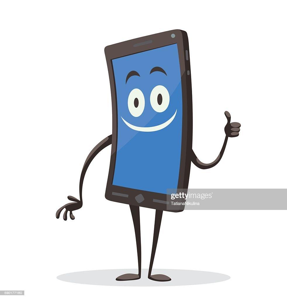 Contented black smartphone