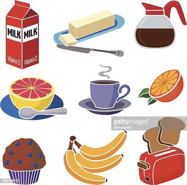 World S Best Continental Breakfast Stock Illustrations