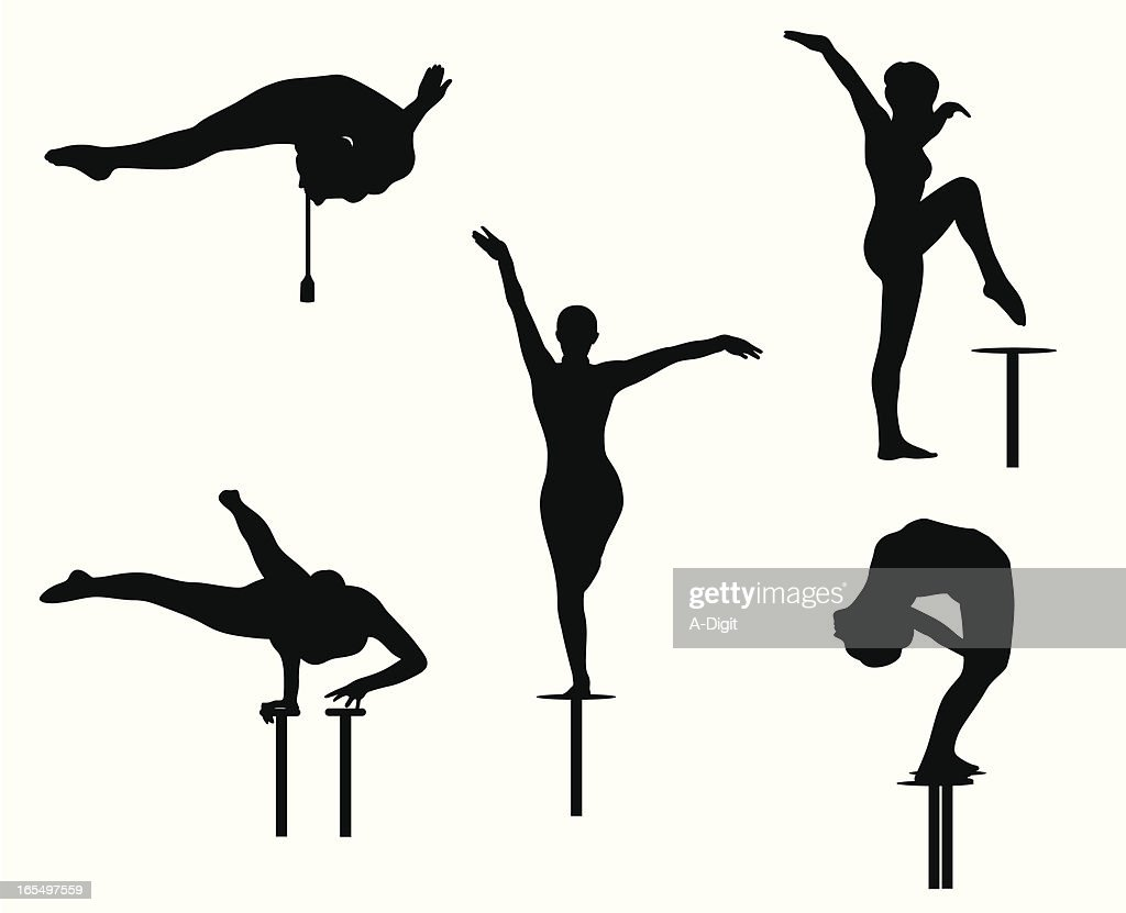 Contortionist Vector Silhouette : Stock Illustration