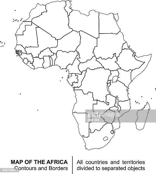 Contour Map of Africa