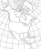 Contour map of North America.