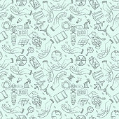 contour seamless pattern illustration_2_for the design of various objects of human life, theme for world environment day