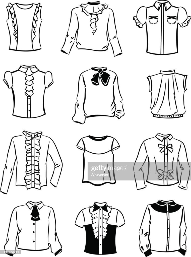 Contours of blouses for girls