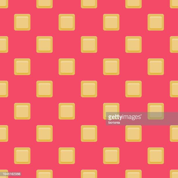 Contraceptive Patch Female Reproduction Seamless Pattern
