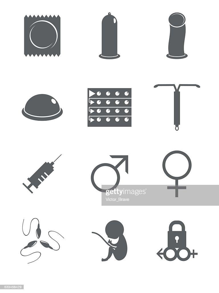 Contraceptive, sex icons