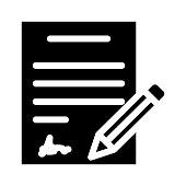 contract Glyphs Vector Icon